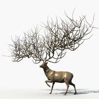 3d deer god model