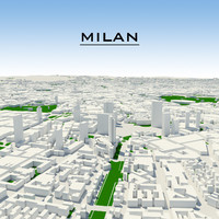 3ds max milan cityscape