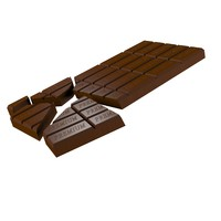 3d model chocolate