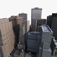 lower manhattan district 3d model