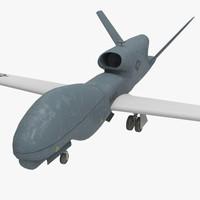 3d rq-4b drone model