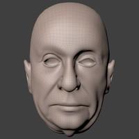 3d head human man