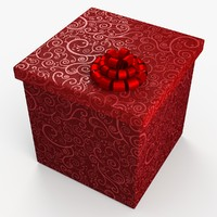 3ds max christmas gift present box