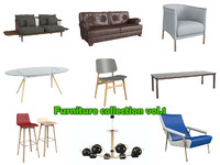3d model furniture vol 1