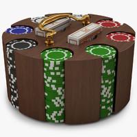 3d poker chip carousel model