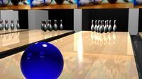 bowling pin 3d max
