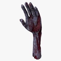 3d model realistic zombie hand