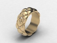 3ds max ring quilted matelasse