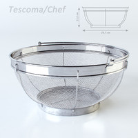3d model of basket straining chef tescoma