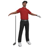3d golfer player hat model