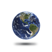 cinema4d planet earth white background