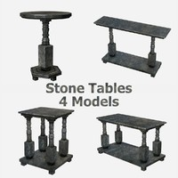 3d stone tables - 4