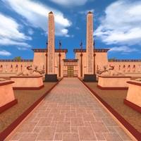 luxor temple 3d c4d