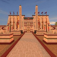 cinema4d karnak temple