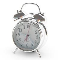3d classic analog alarm clock