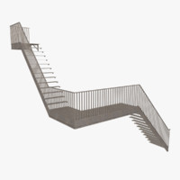 exterior stair 3ds