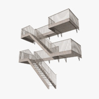 3d exterior stair