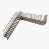 exterior stair 3d 3ds