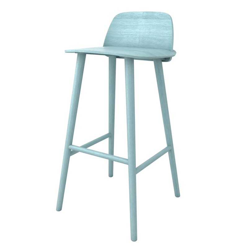 Muuto nerd bar stool 3d 3ds for Barhocker 3d model