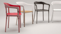 3d model steelwood chair