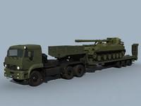 3d model kamaz-65225 2s5 combo