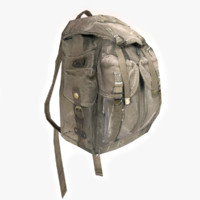 hiking backpack 3d model