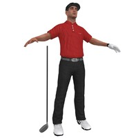 3d model golfer player hat