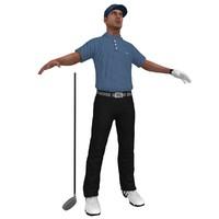 3d golfer 3