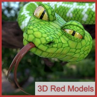 3ds max cartoon emerald boa