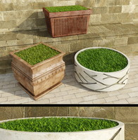 3d decorative outdoor grass model