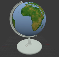 3d 3ds world globe