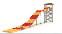 3d water slide fast model