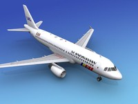 airline airbus sas 3d model