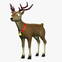 cartoon reindeer 3d model