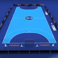 handball court 3d model