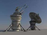 satellite dish sensor defense 3d model