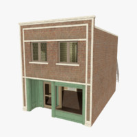 american brick building store 3d 3ds
