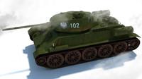 3d model t-34 russian medium tank