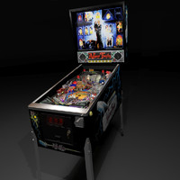 3d model of pinball machine