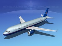 3d model of a320 airbus airliners