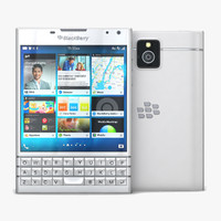 3d model blackberry passport white