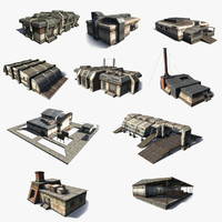 3d model sci-fi exterior set