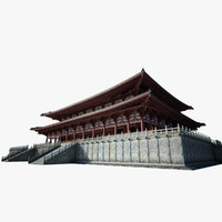 ancient chinese architecture obj