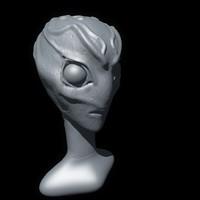 c4d green alien