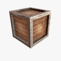 sculpted cube 3d obj