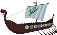 viking ship obj