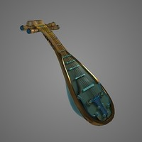 chinese lute pipa 3d model