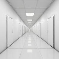 hallway doors 3d max