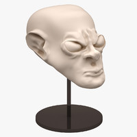 alien head sculpt 3d model