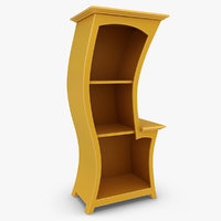 bookcase dust furniture 3d model